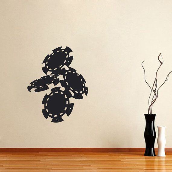 Charming Vinyl Decal Casino Poker Chips Home Wall Decor By DecalHouse, $24.65 Amazing Design