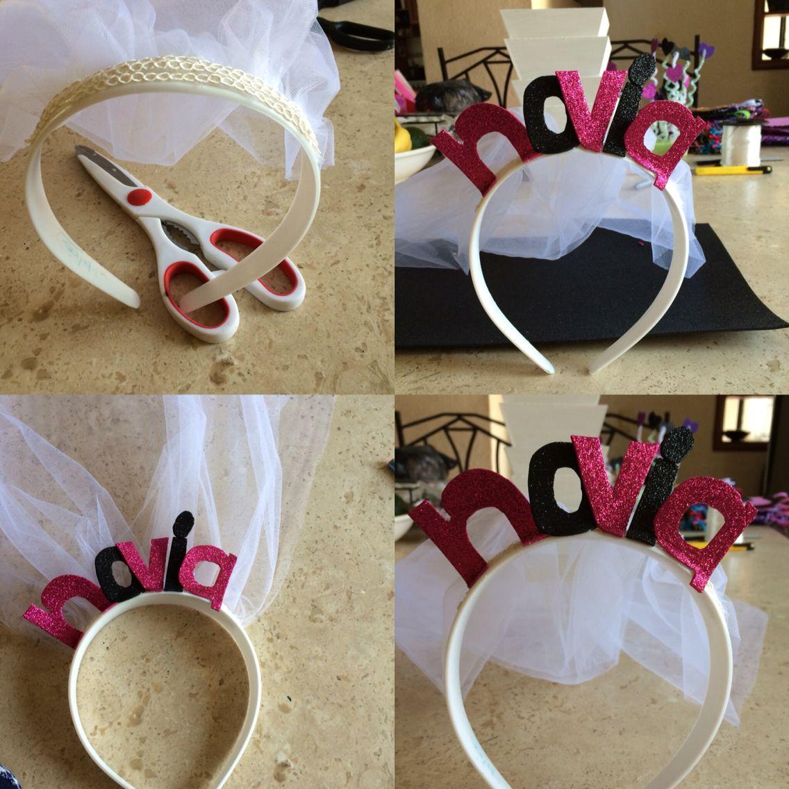 Diadema con velo de novia despedidas de solteras for Complementos de decoracion