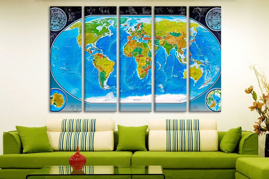 Political world map personalized world map art big canvas maps political world map personalized world map art big canvas maps wooden world personalised travel map board maps for wall on canvas wall art gumiabroncs Choice Image