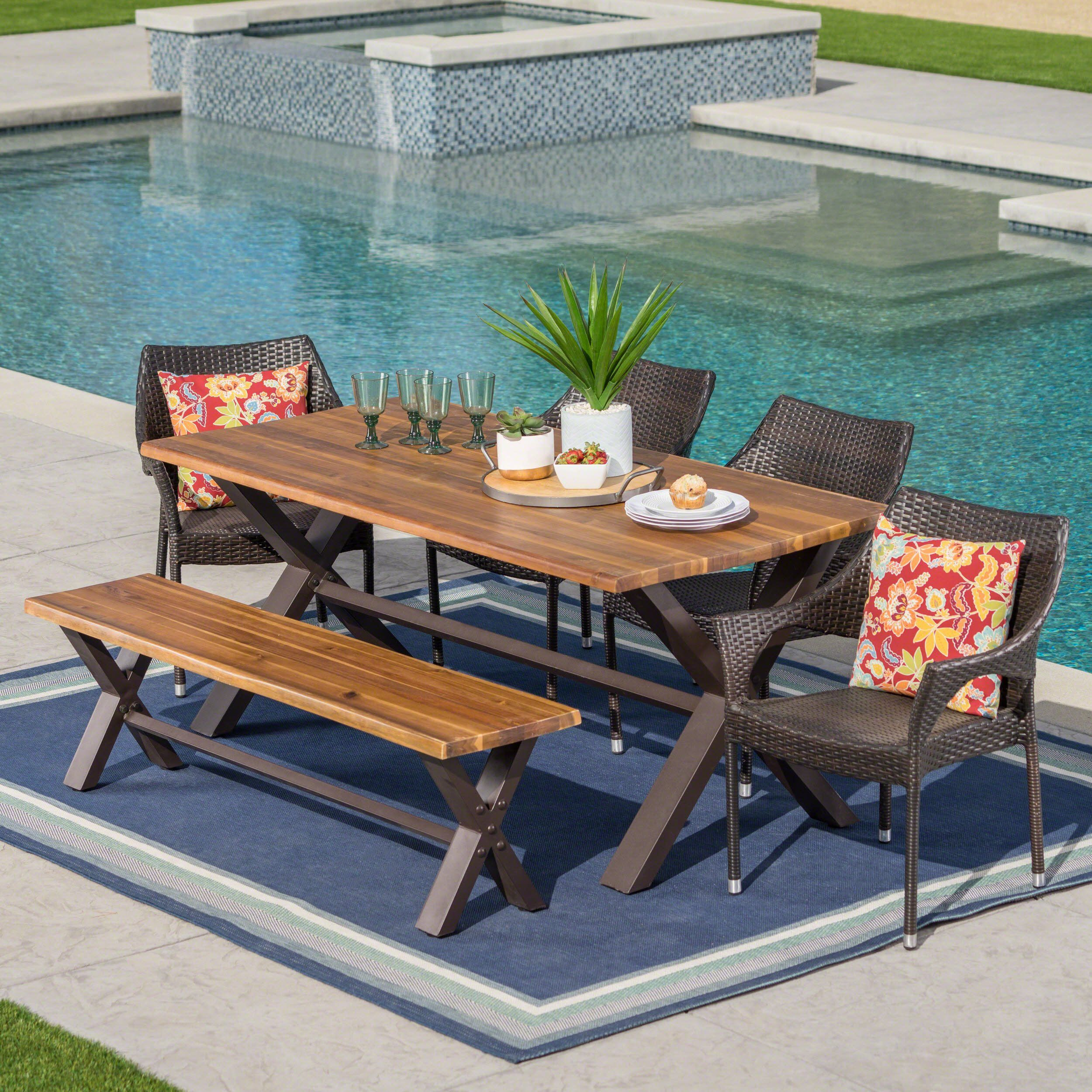 38++ Patio dining sets with bench seating Trend