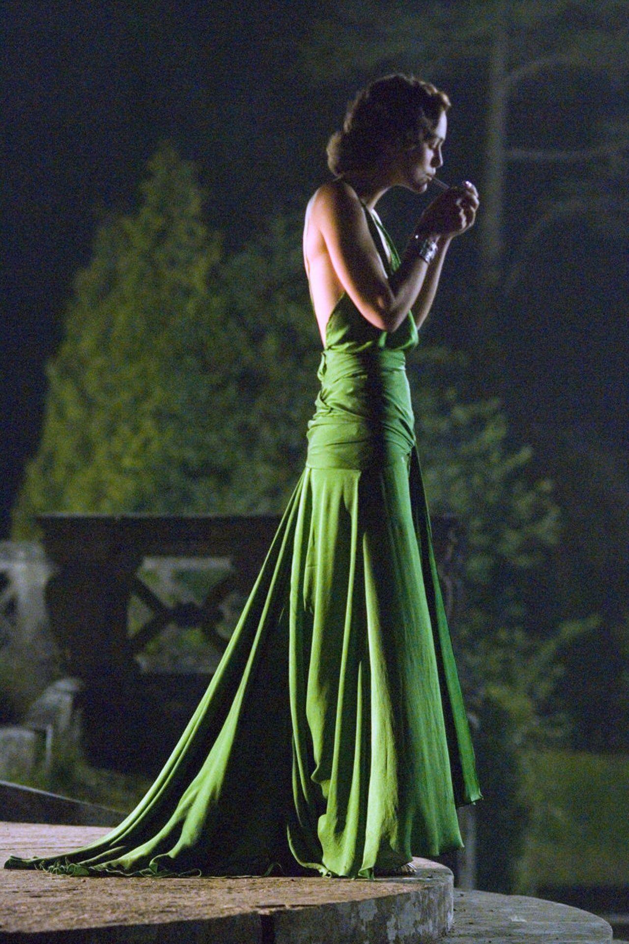 Kiera Knightly Atonement Dress Evening Dresses Vintage Emerald Green Dresses [ 1920 x 1280 Pixel ]