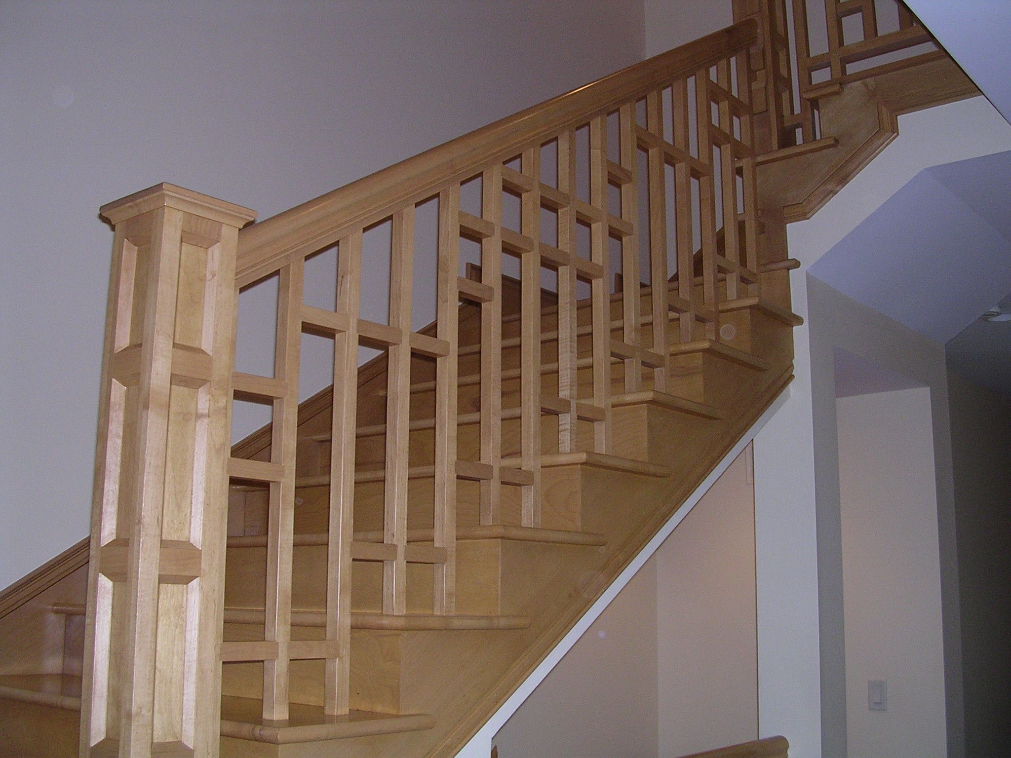 Build Newel Post Craftsman Newel Post And Nice Baluster Design Stairs Pinterest