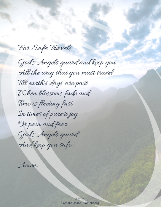 Catholic Prayer For Travel Protection | Myvacationplan org