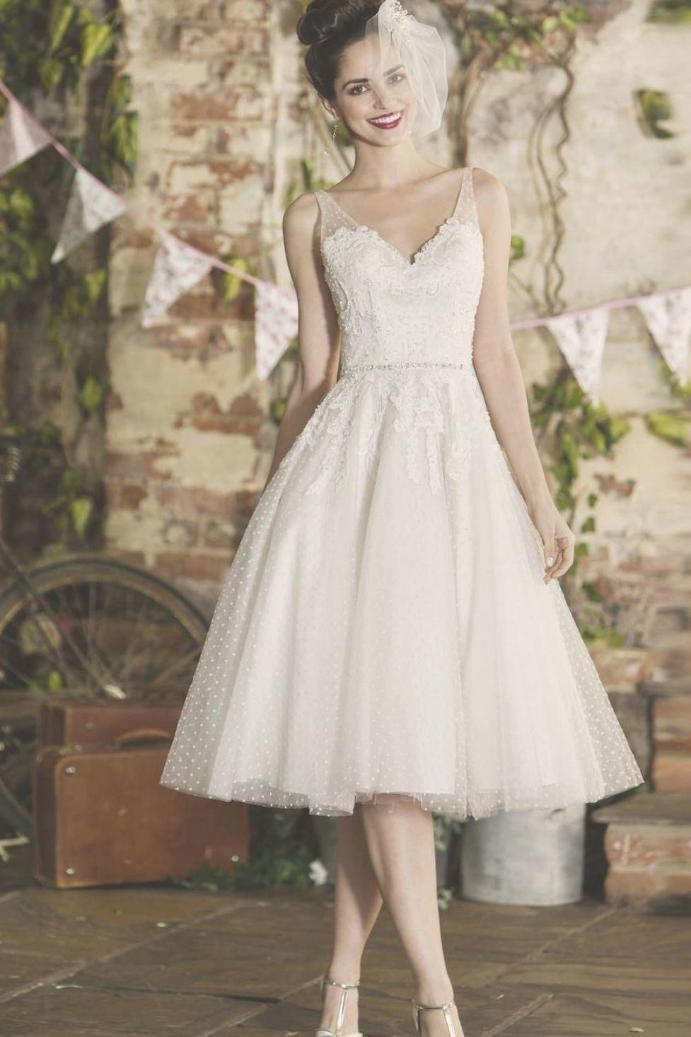 tbsadie Vintage inspired short tea length wedding dress