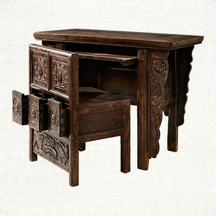 Computer Desk In Brown Furniture Chinese Furniture Desk