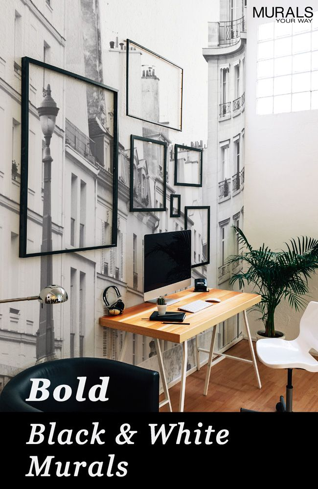 Our black and white wall murals are