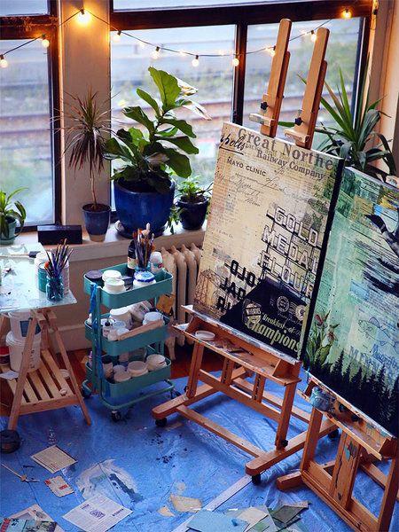 Nueve ideas para decorar un rinc n art stico ideas para ideas y estudios - Ideas para decorar un estudio ...