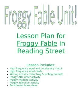 fables lesson prep year 4