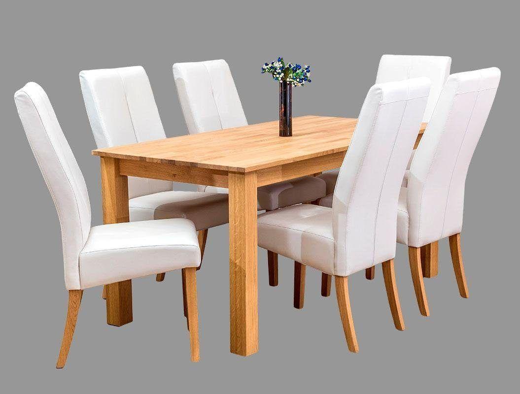 Home affaire Essgruppe weiß, 17-teilig, 17x17 cm + 17 Stühle