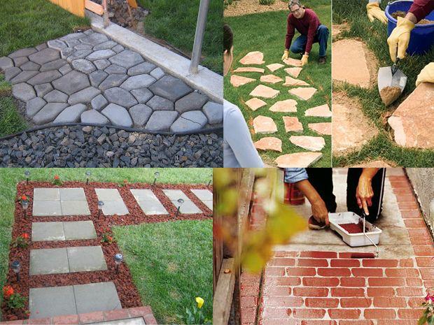 I vialetti fai da te per il giardino progetti da provare pinterest garden ideas and backyard - Recinzioni giardino fai da te ...