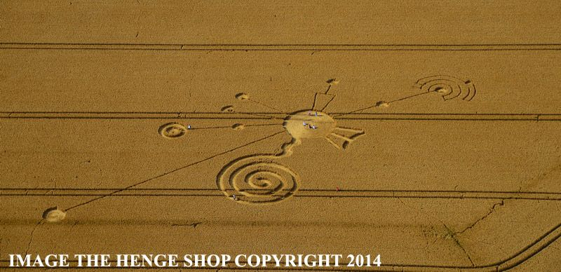 180x100 ft. Huge! Crop Circle at Roundway Hill, Nr Devizes, Wiltshire, United Kingdom. Reported 30th July  2014