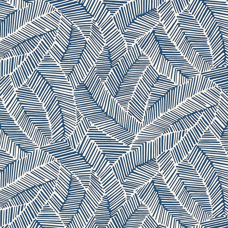Navy Wallpaper, Geometric Stripe Wallpaper
