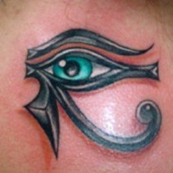 protection from evil tattoos an egyptian tribal tattoo of the eyes of horus a symbol of. Black Bedroom Furniture Sets. Home Design Ideas