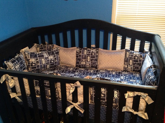 Star Wars Crib Set Crib Bedding 7 Piece Ready To Ship Summer