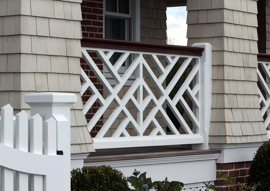 Intex decorative panel for porch rail railing