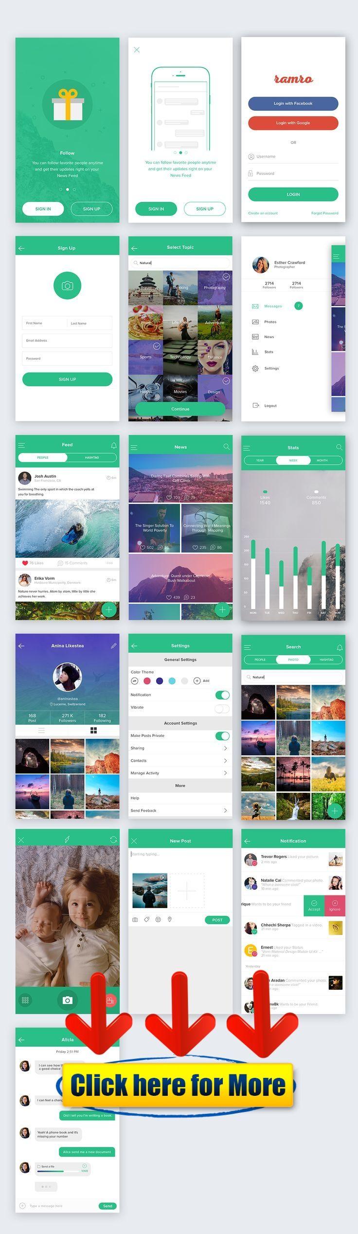 Ramro app template iOS #android #iphone #ios #app #free