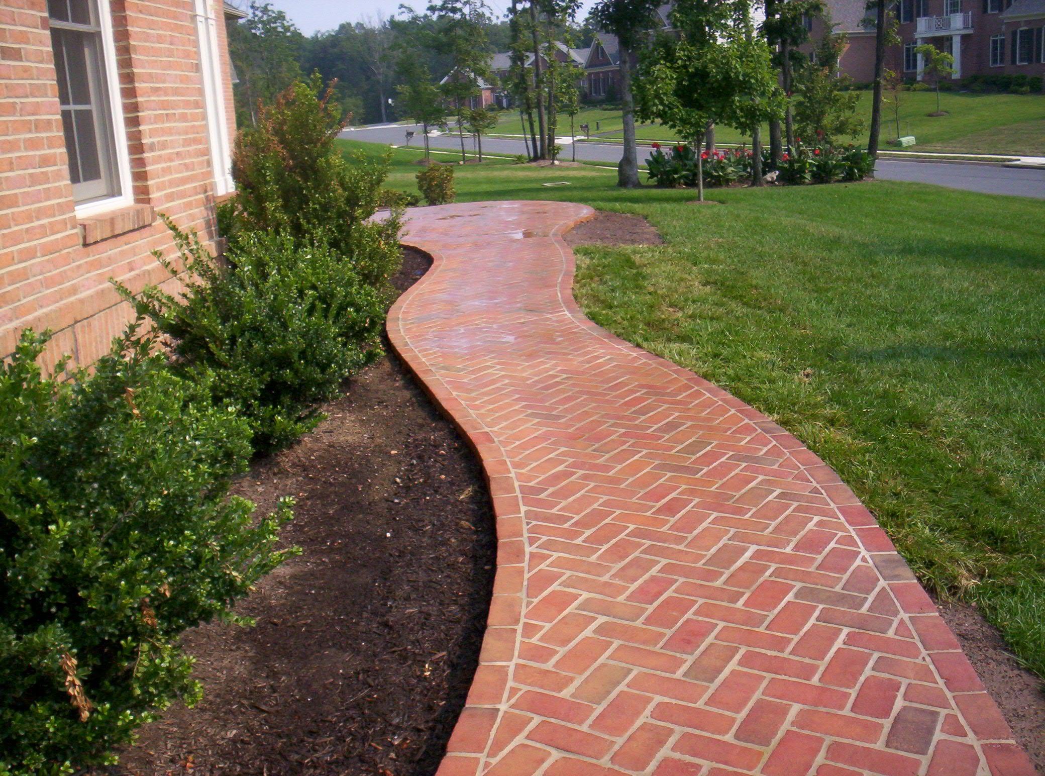 Design Ideas For Brick Walkways Brick Walkway Pavers Walkway
