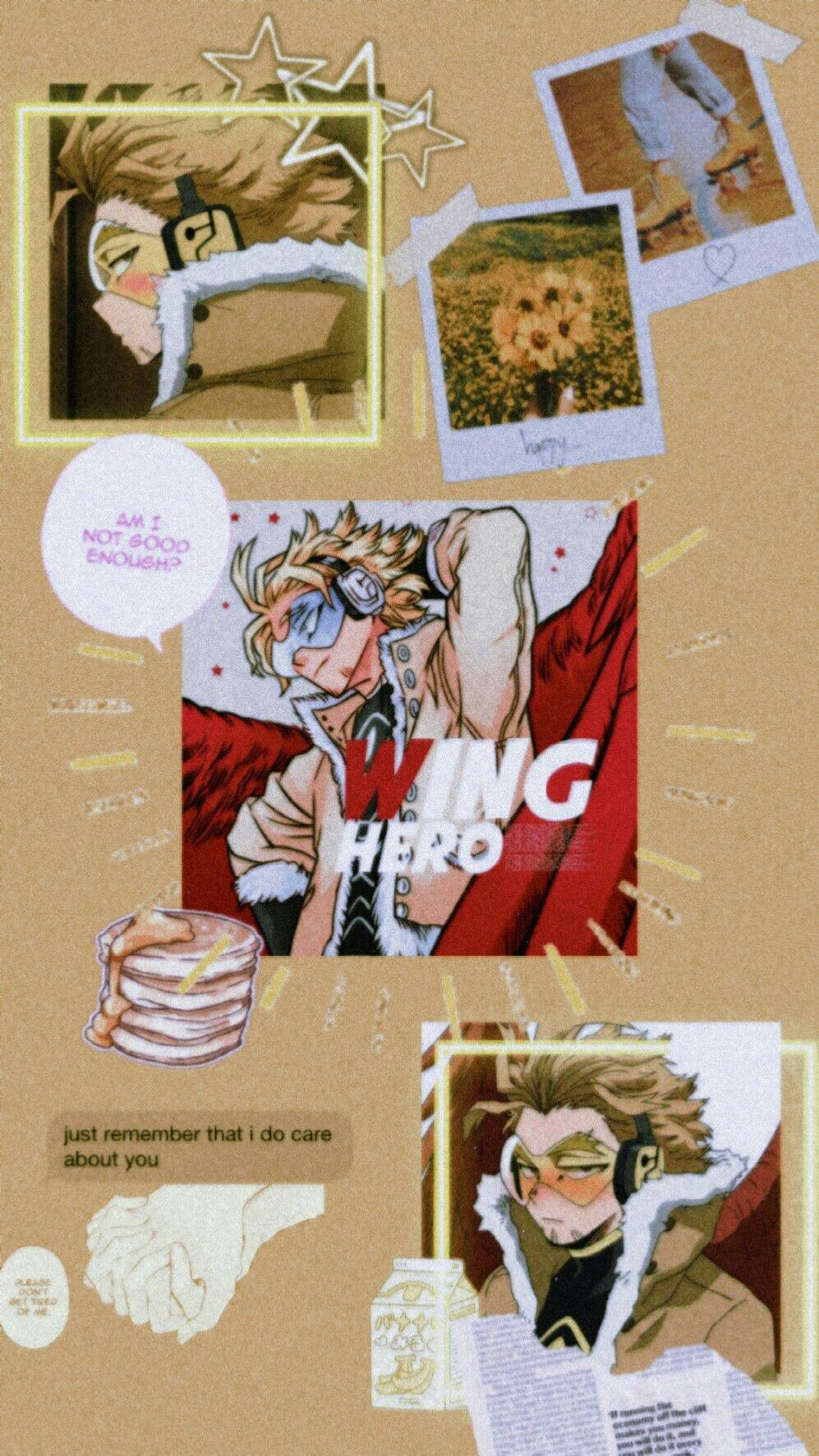 Hawks Aesthetic In 2020 Anime Wallpaper Iphone Hero Wallpaper Cute Anime Wallpaper