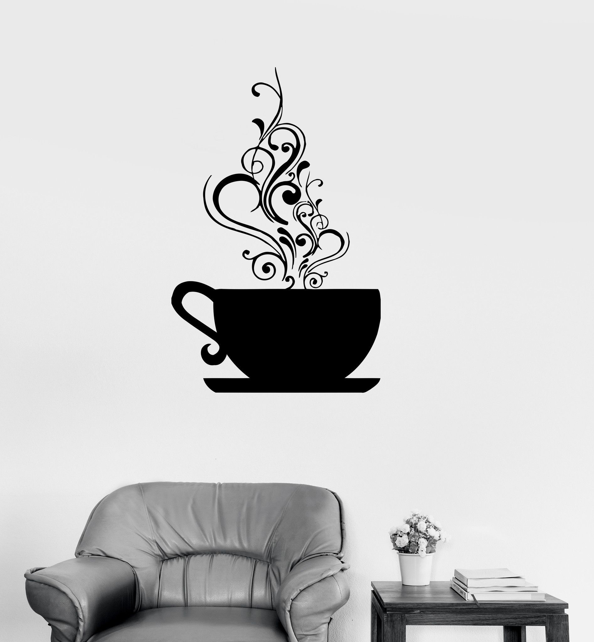 Vinyl decal coffee cup cafe tea kitchen decor wall stickers mural vinyl decal coffee cup cafe tea kitchen decor wall stickers mural ig188 amipublicfo Images