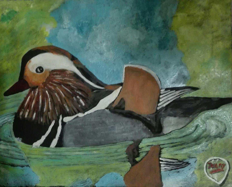 Pato. Pintura al óleo.