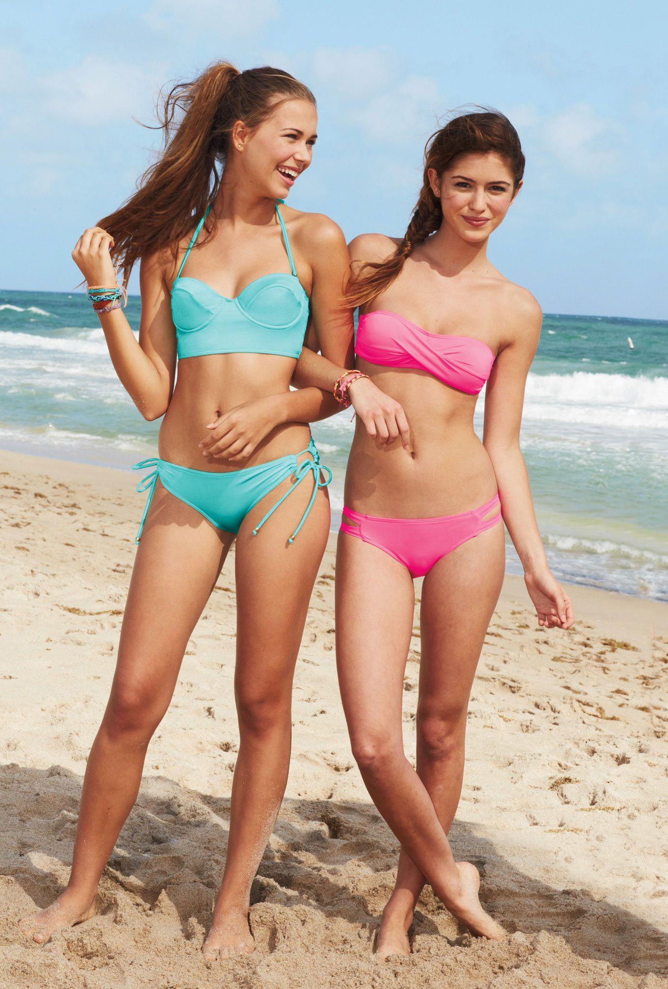 Hot teen girls at the beach