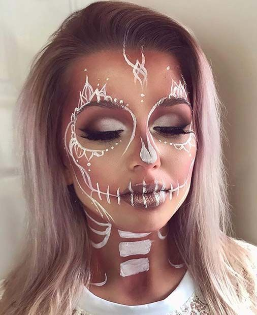 21 einzigartige Halloween-Make-up-Ideen von Instagram #allwhiteparty