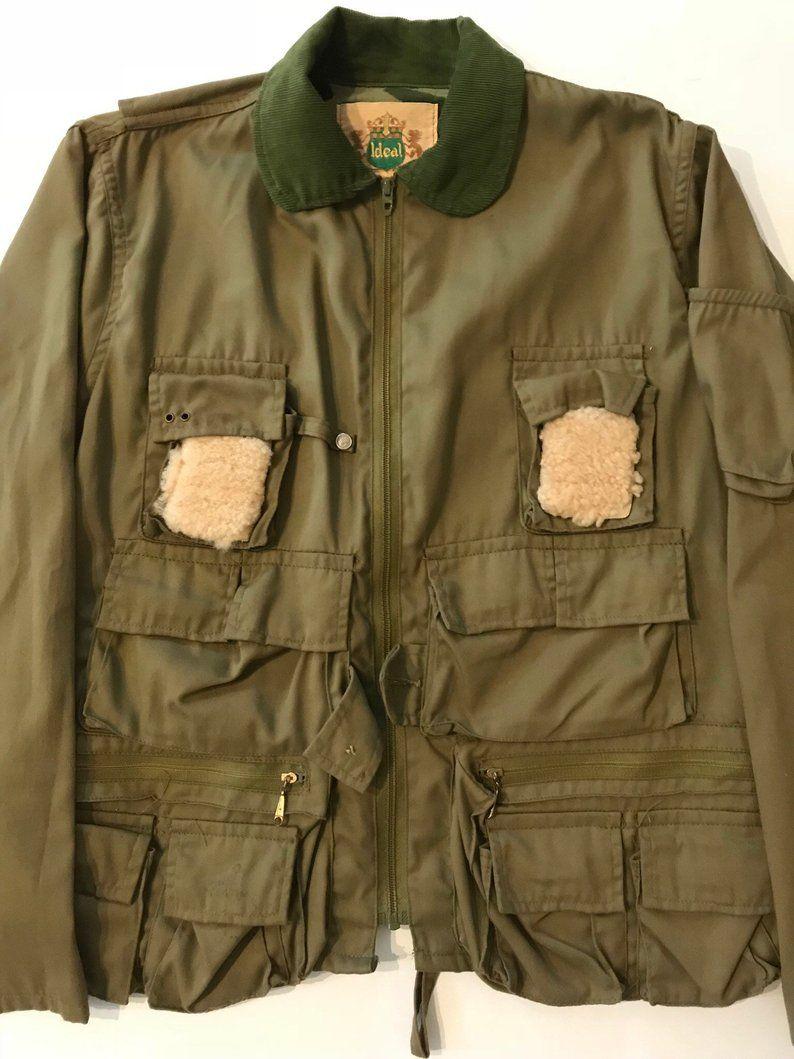 Vintage 1960s70s Ideal Fishing Jacket Mens Size M/L