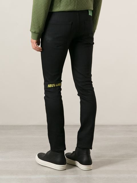 5ff990bc Raf Simons, Sterling Ruby Skinny Fit Jeans (Black) | Pants | Skinny ...