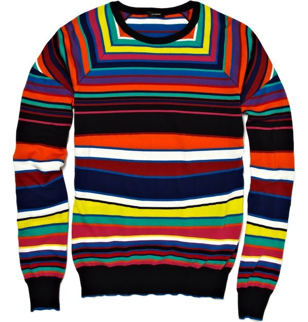Jil Sander Striped Knitted Multi Colored Sweater Hmmm To Wear