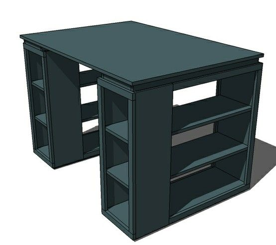 craft table | long shelves for silhouette, sewing machine, etc