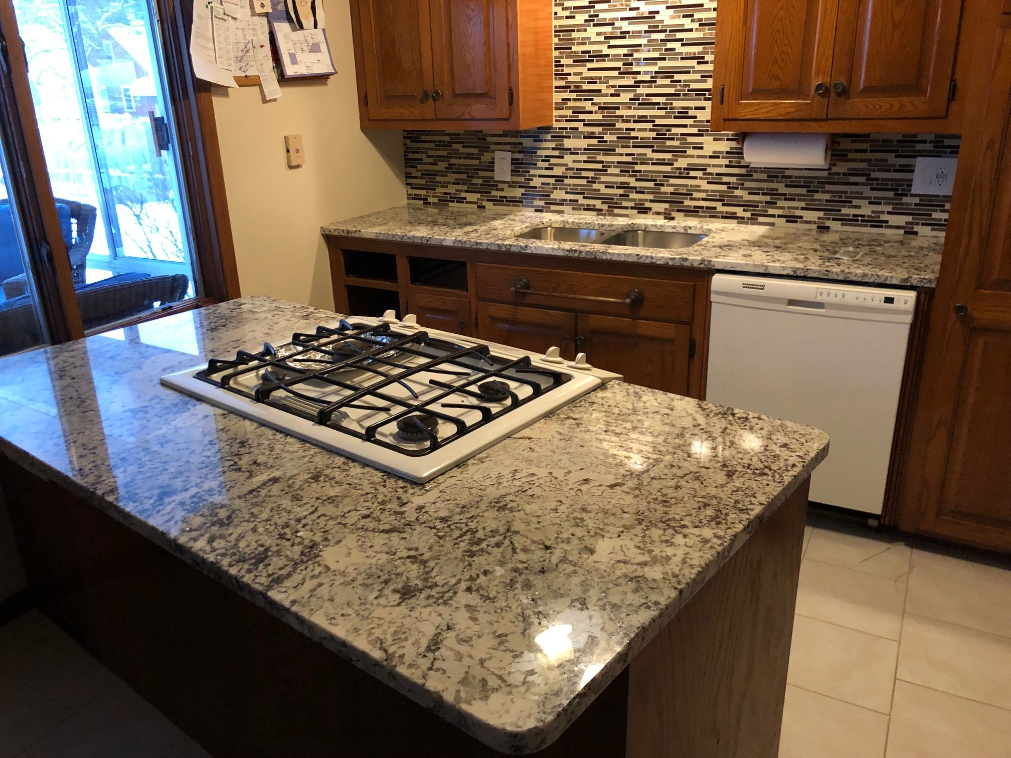 White Bahamas Granite Countertops Fabricated And Installed By