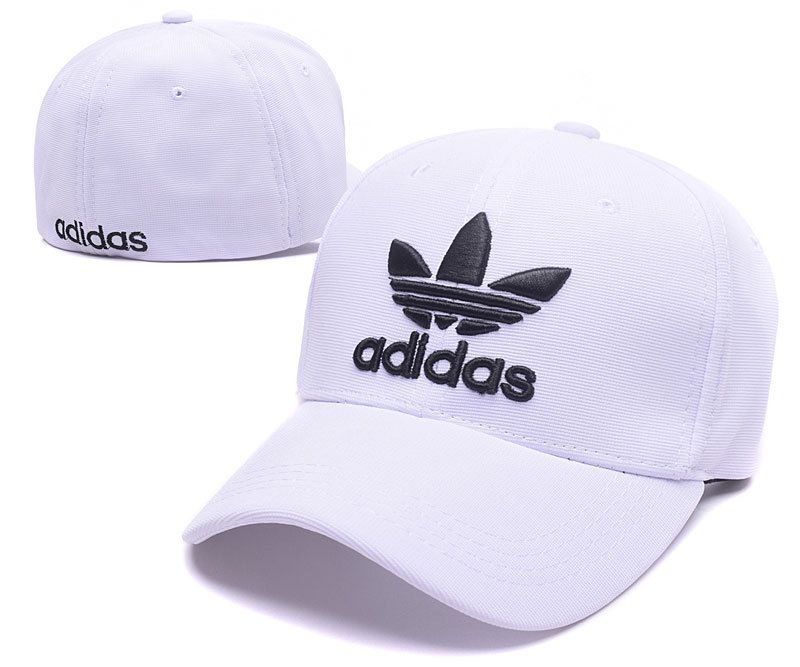 da29245aaeb72 Men s   Women s Adidas The Originals Embroidery Logo Flexfit Hat - White    Black