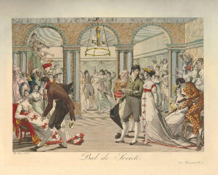 Bal de Société. 1800-1805, British Museum 1895,1214.121