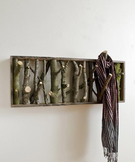 holz äste ideen wandhaken selbermachen | kreatives aus holz, Wohnzimmer dekoo