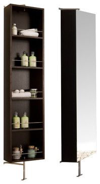 Due Rotating Mirror Cabinet Contemporary Bathroom Storage Macral Design Corp Diy Mount Shelf To A Lazy Susan Then On Back