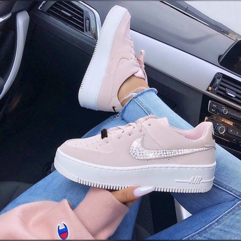 Nike Air Force 1 Sage Low Hand Customized Swarovski Crystals Etsy In 2020 Nike Air Shoes Custom Nike Shoes Beige Shoes Here is a side by side comparison to determine which is best for you. nike air shoes custom nike shoes