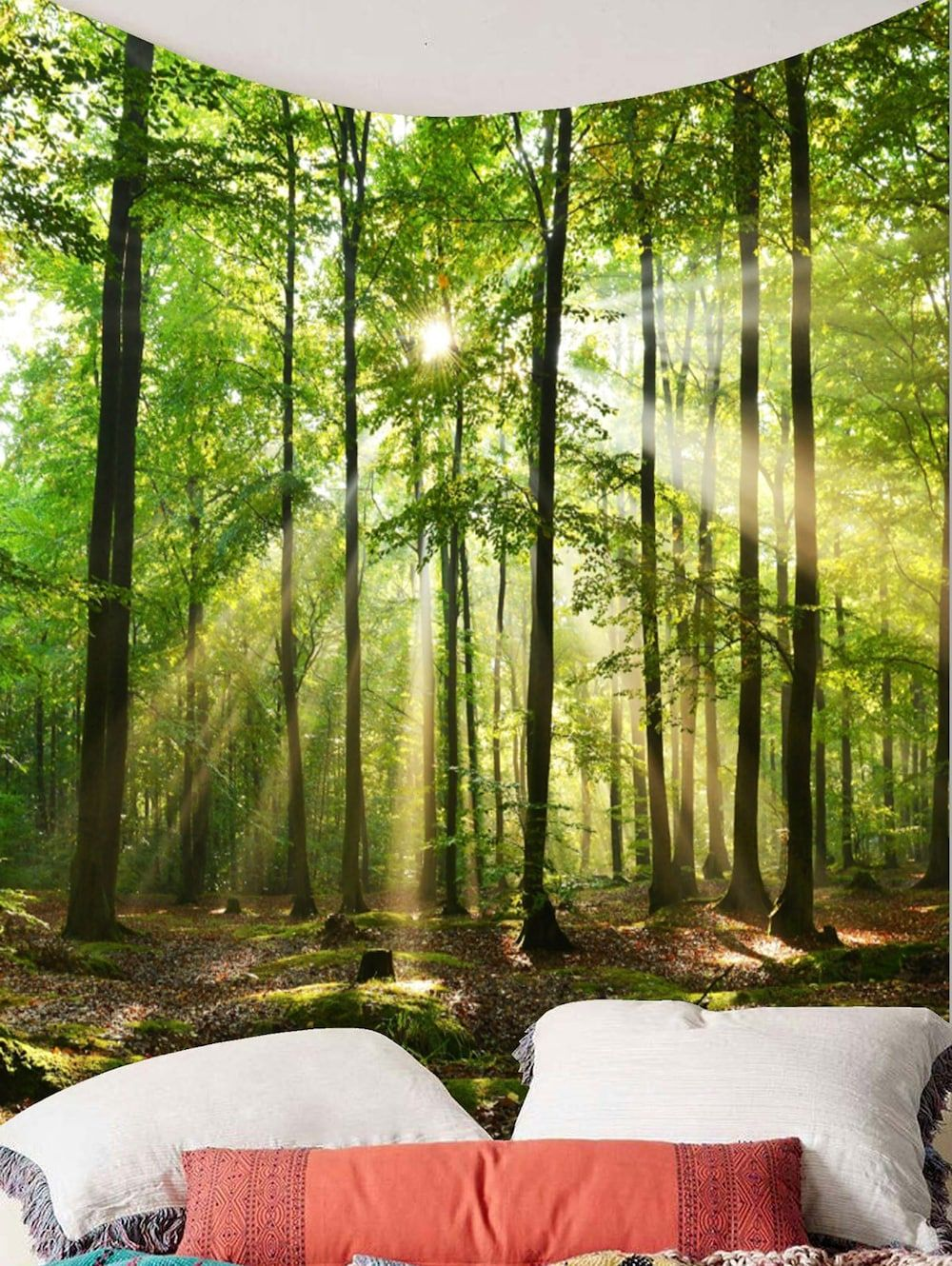 Forest Sunlight Decorative Wall Tapestry | Decorative walls, Wall ...