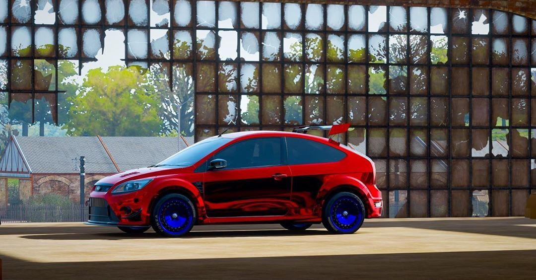 Ford Focus St With An Interesting Paint Job To Say The Least Forzah4shots Forza Forzahorizon4 Forzaph Ford Focus St Ford Focus Fiat Chrysler Automobiles