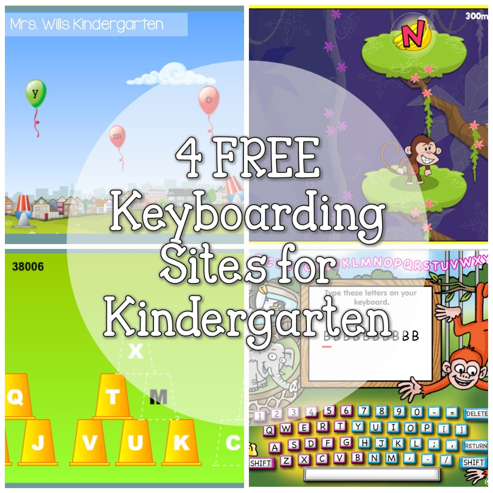 4 FREE Keyboarding sites for Kindergarten | tech | Teaching