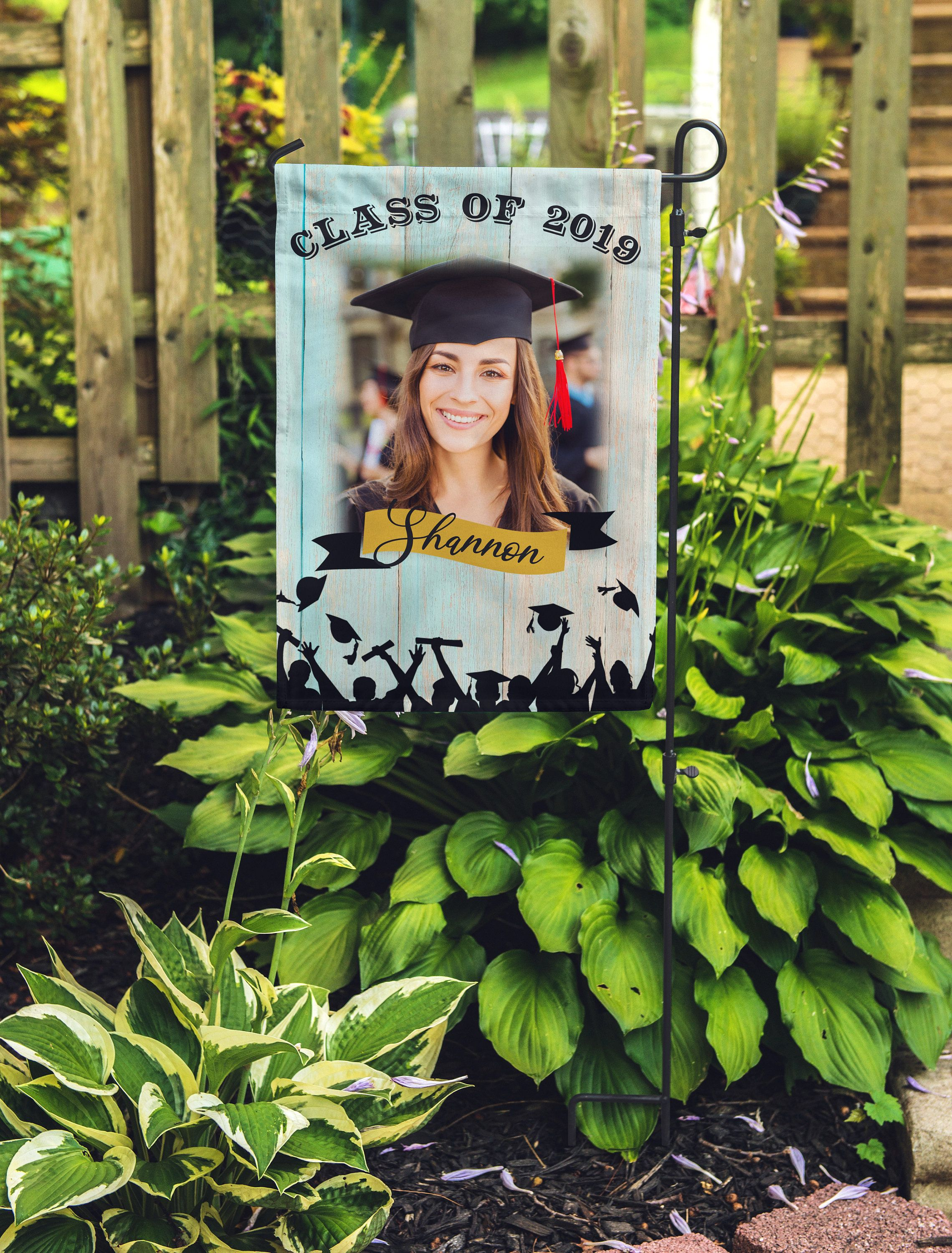Personalized Graduation 2019 Garden Flag Graduate Photo Etsy Personalized Graduation Graduation Center Pieces Mother In Law Gifts