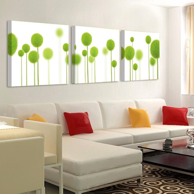 Green Flowers Bedroom Wall Decoration Home Decor Wall ...