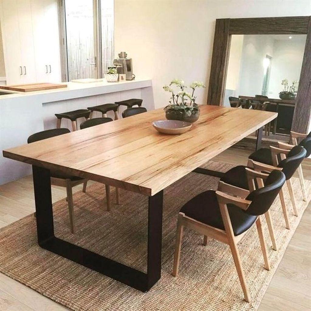 48 Elegant Modern Dining Table Design Ideas Homyhomee Dining Table Design Modern Modern Dining Table Dining Room Table