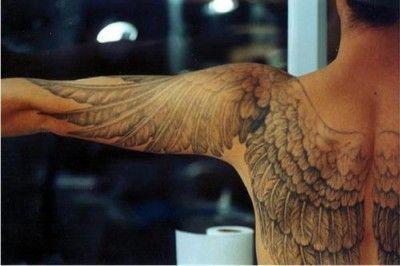 Hombre Alas Espalda Y Hombros Tattoos Pinterest Tatuajes Alas