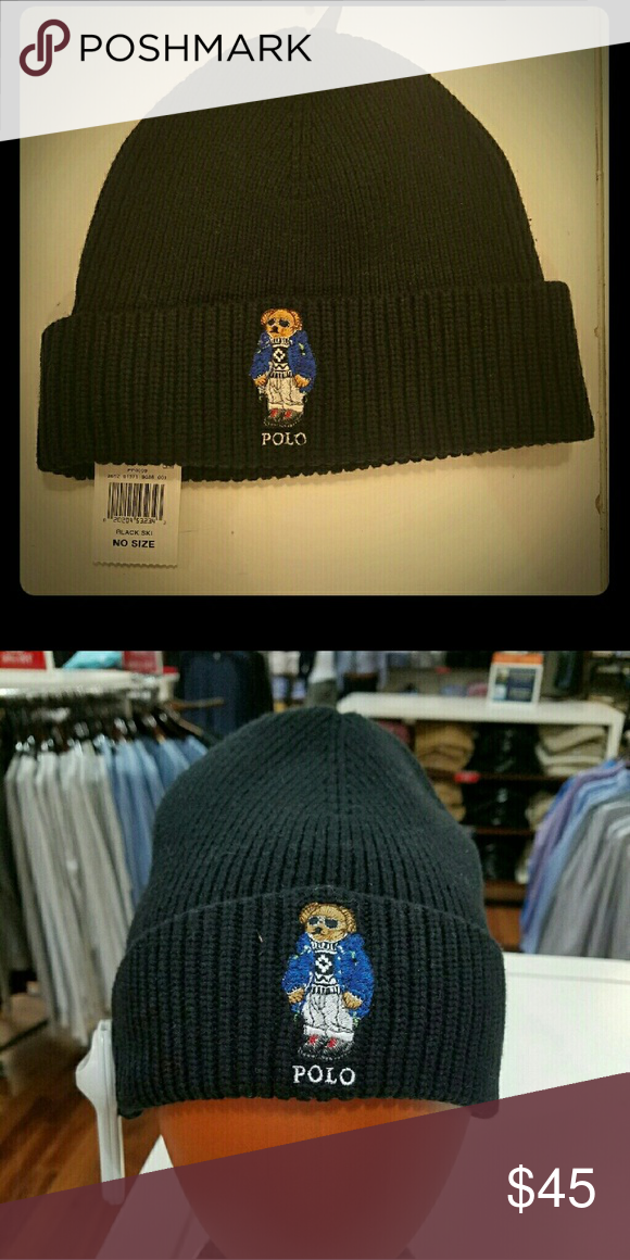 24c8982f67f Limited Edition Polo Bear Beanie 2017 Polo bear skull cap. Bear sports a ski  suit. Polo by Ralph Lauren Accessories Hats