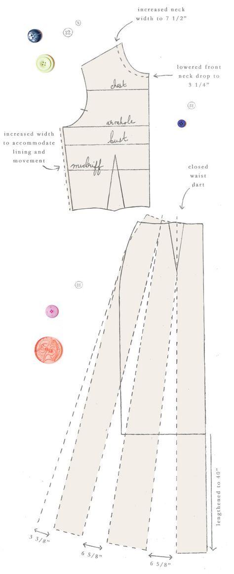 Pin von 德義 韓 auf sewing DRESS patten | Pinterest | Schnittmuster ...
