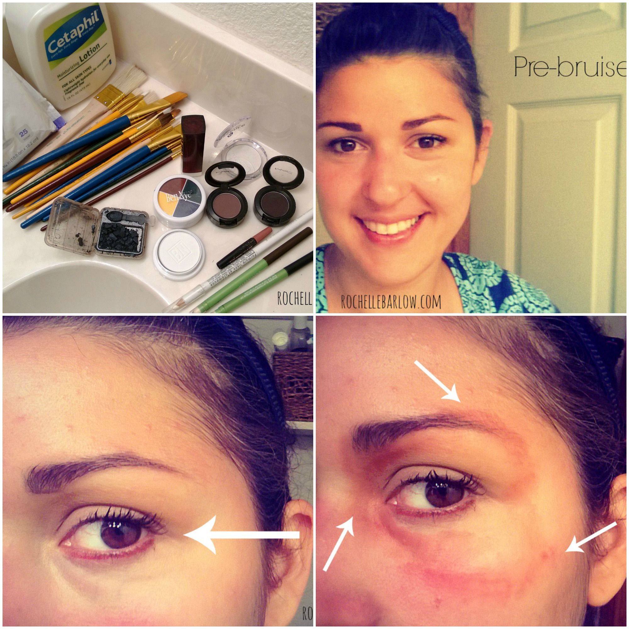 How to bruise yourself with stage makeup theater makeup baditri Choice Image