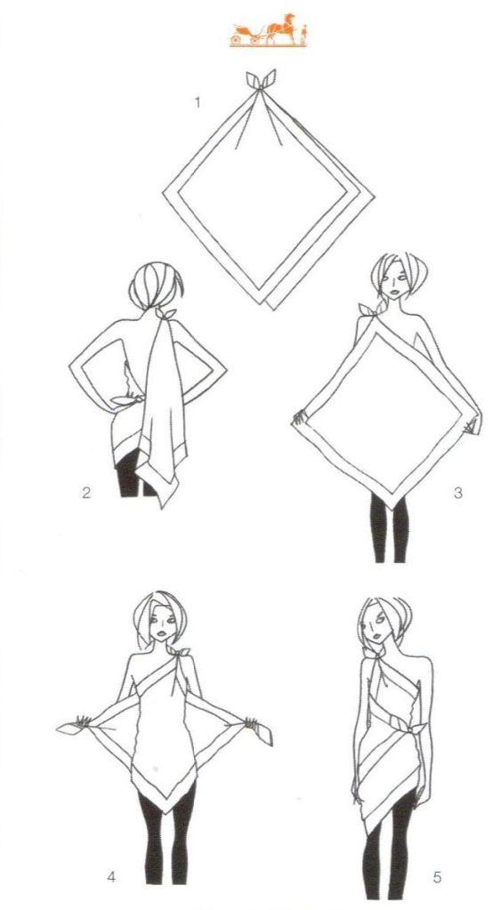 30 days…35+ ways to wear a scarf (Day 28) Hermes S
