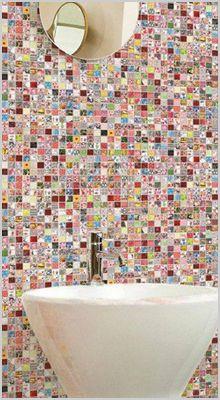 Andy Warhol mosaic tiles