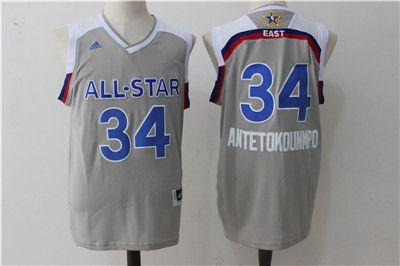 Adidas Authentic Giannis Antetokounmpo Men's Gray NBA Jersey