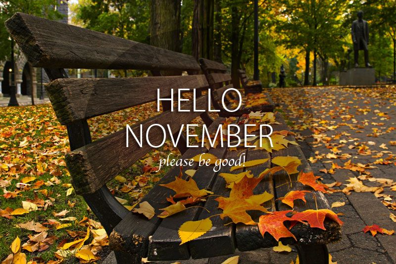 Exceptional Its Time To Say Good Bye October And Welcome To November With Best Wishes  And Greetings By Saying Hello November, Please Be Good To Me And Please Nice  To Me ...